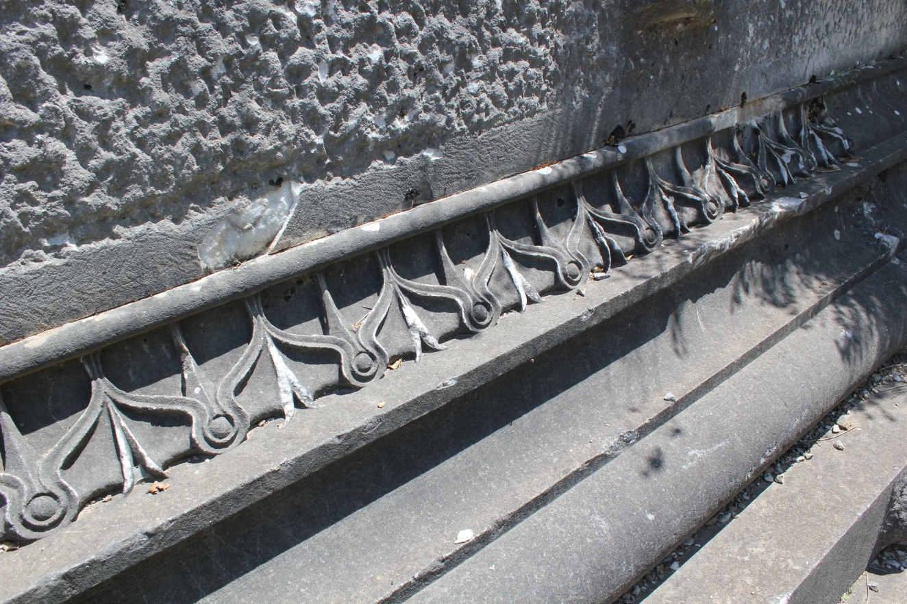 Detail of stepped base on N side of Belevi Monument