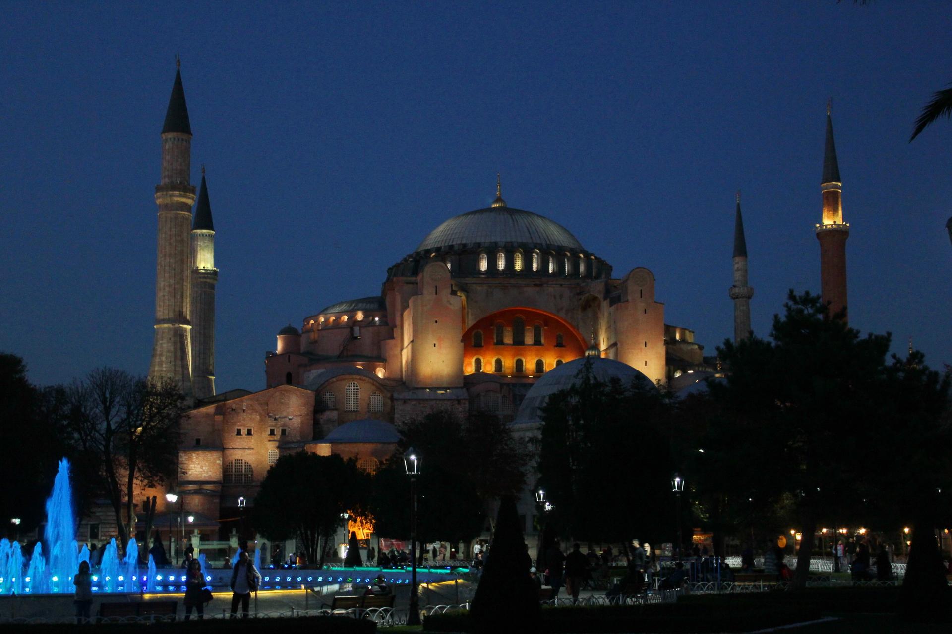 Hagia Sophia in the twilight