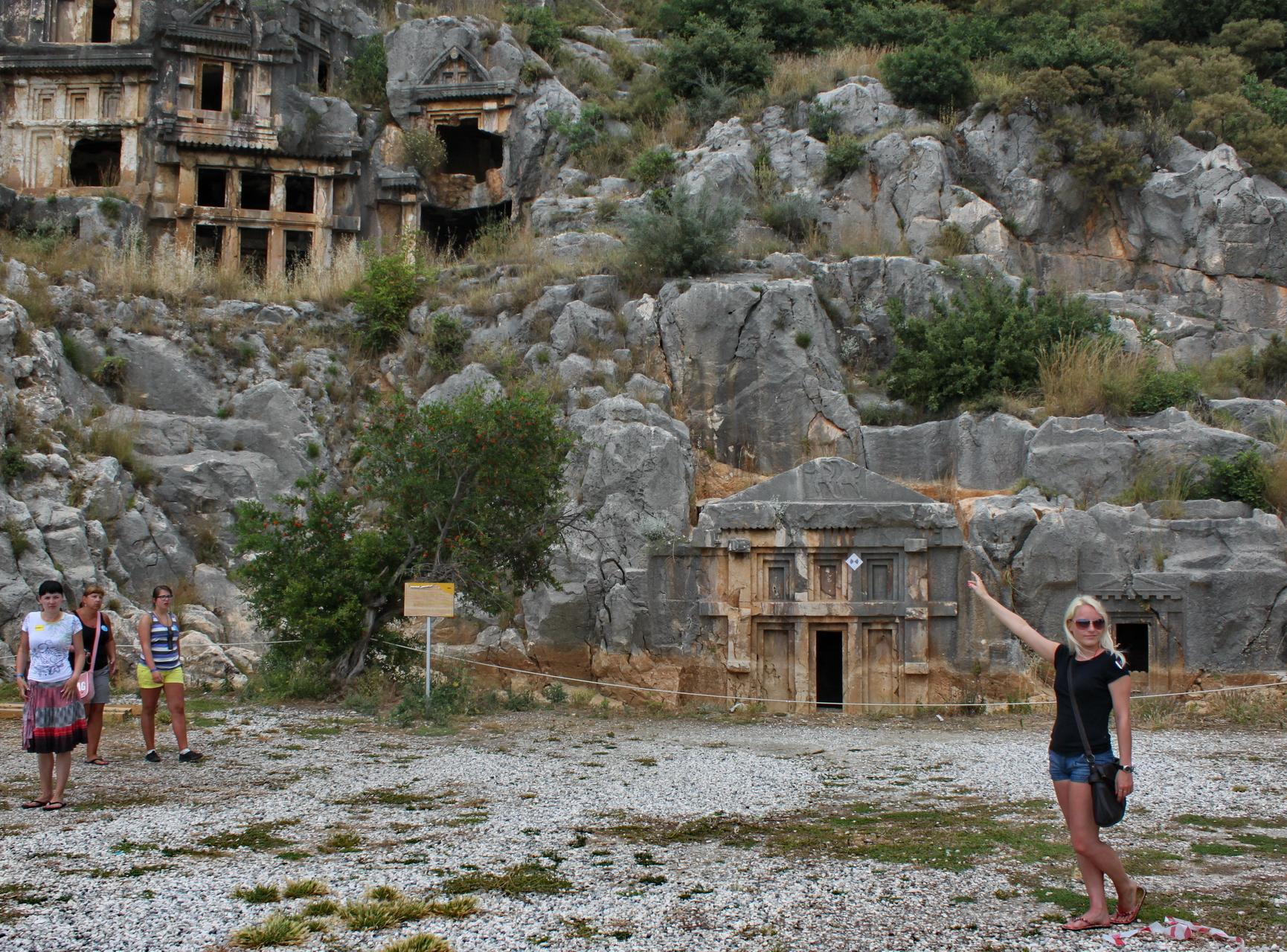 Myra: western tombs