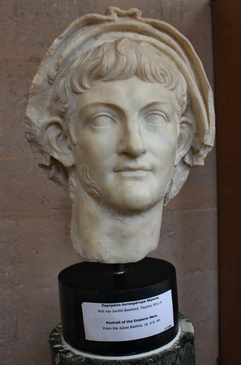 Bust of the Emperor Nero, from the Julian Basilica in Corinth, about AD 60 (photo © Daniel C Browning Jr)